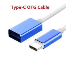 Aluminum Alloy 20CM Type-C USB 3.1 To USB 3.0 Type C OTG Cable Adapter Converter For Samsung S8 For Huawei P10