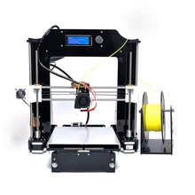 2016 hot selling prusa i3 full acrylic DIY fdm industrial desktop 3d printer machine single extruder 1.75mm ABS/PLA filament