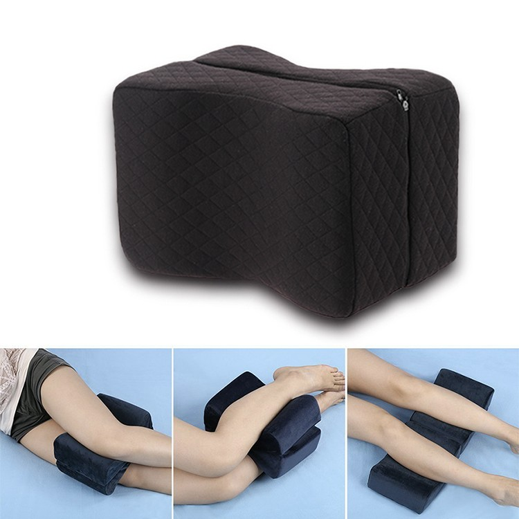 Sciatica Relief Back Pain Leg Pain Pregnancy Hip and Joint Pain Foldable Orthopedic Memory Foam Knee Pillow