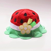 alibaba guangzhou summer cute fruit pattern uv protect kids bucket hat