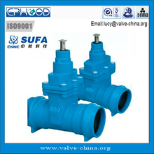 DN80 SUFA Brand PN16 Socket Ends Type GGG50 Soft Sealing Water Gate Valve