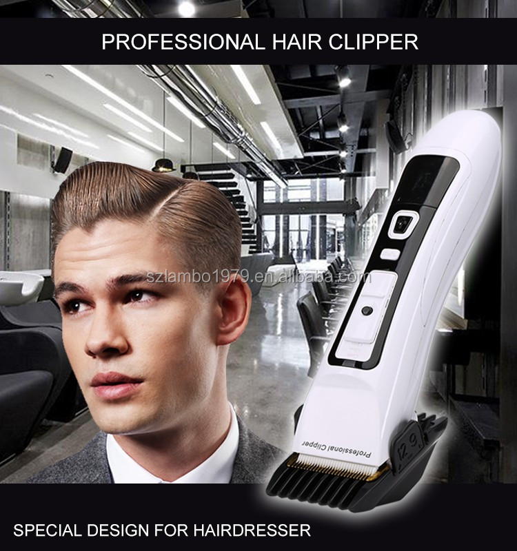 Hair clipper of Close cutting, Nano-ceramic moving and fixed stainless steel R-Blade