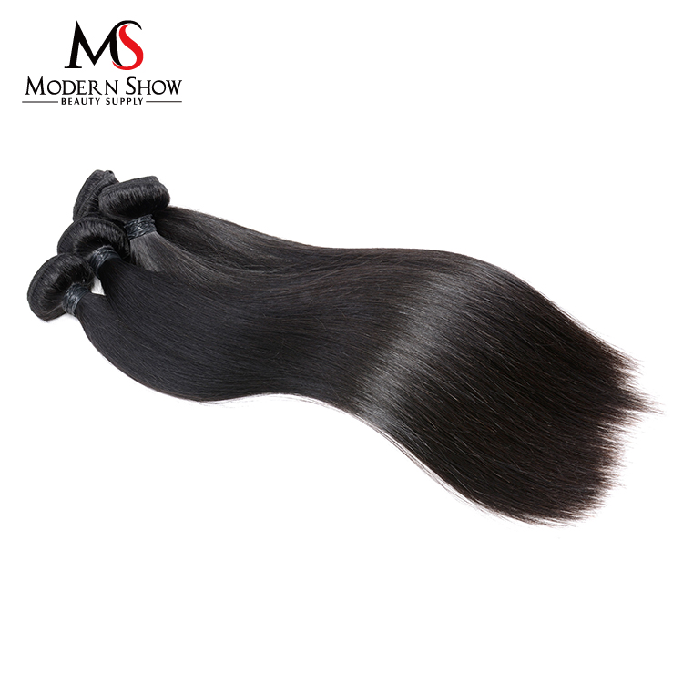 High luster no shedding no tangles or matting virgin hair no silicon mix brazilian silky straight human hair weft