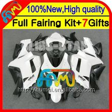 Body Bodywork For KAWASAKI ZX6R ALL White ZX-6R NINJA 07 08 10CL85 HOT ZX 6R 636 ZX636 Glossy White 2007 2008 07 08 Fairing