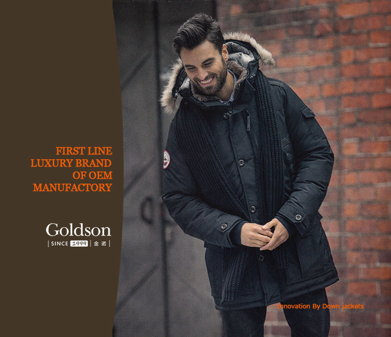 Men's Fashion Goose Down Winter Jacket With Luxury Big Fur Popular Italian Brand