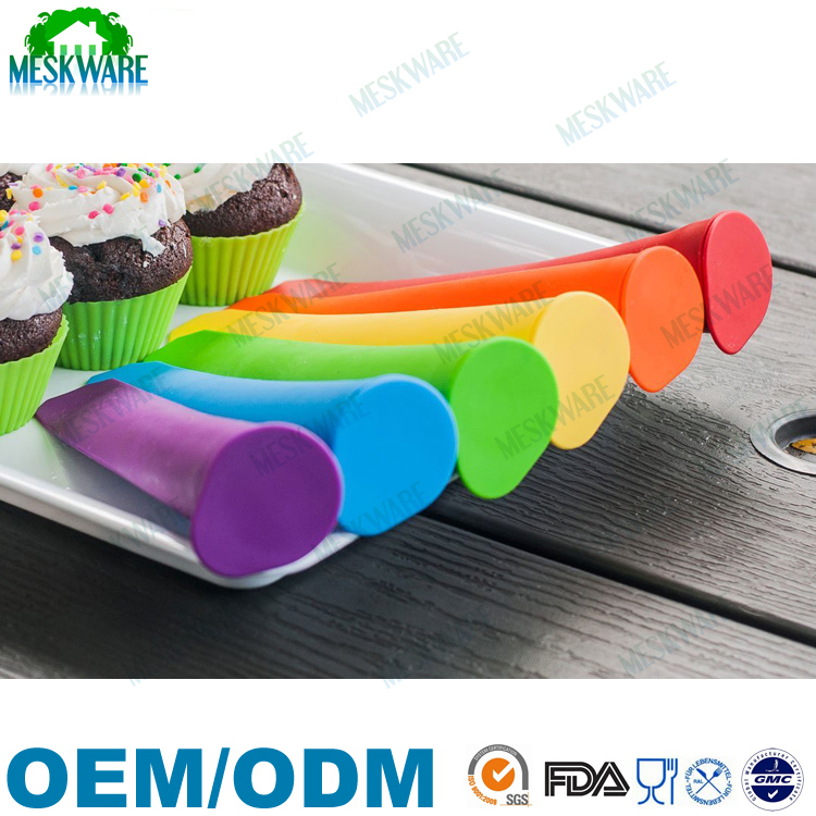 2015 Best sell on Amazon colorful silicone popsicle mold