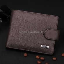 Factory Price!Classic Men Genuine Leather Wallet With Coin Pocket