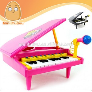 Electronic children toys wholesale learn piano keyboard with microphone MT801072