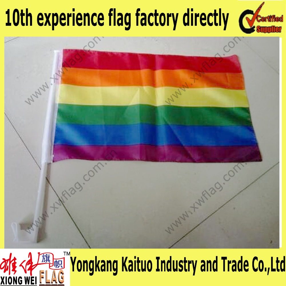 30*45cm gay pride rainbow car flag factory directly supply wholesale