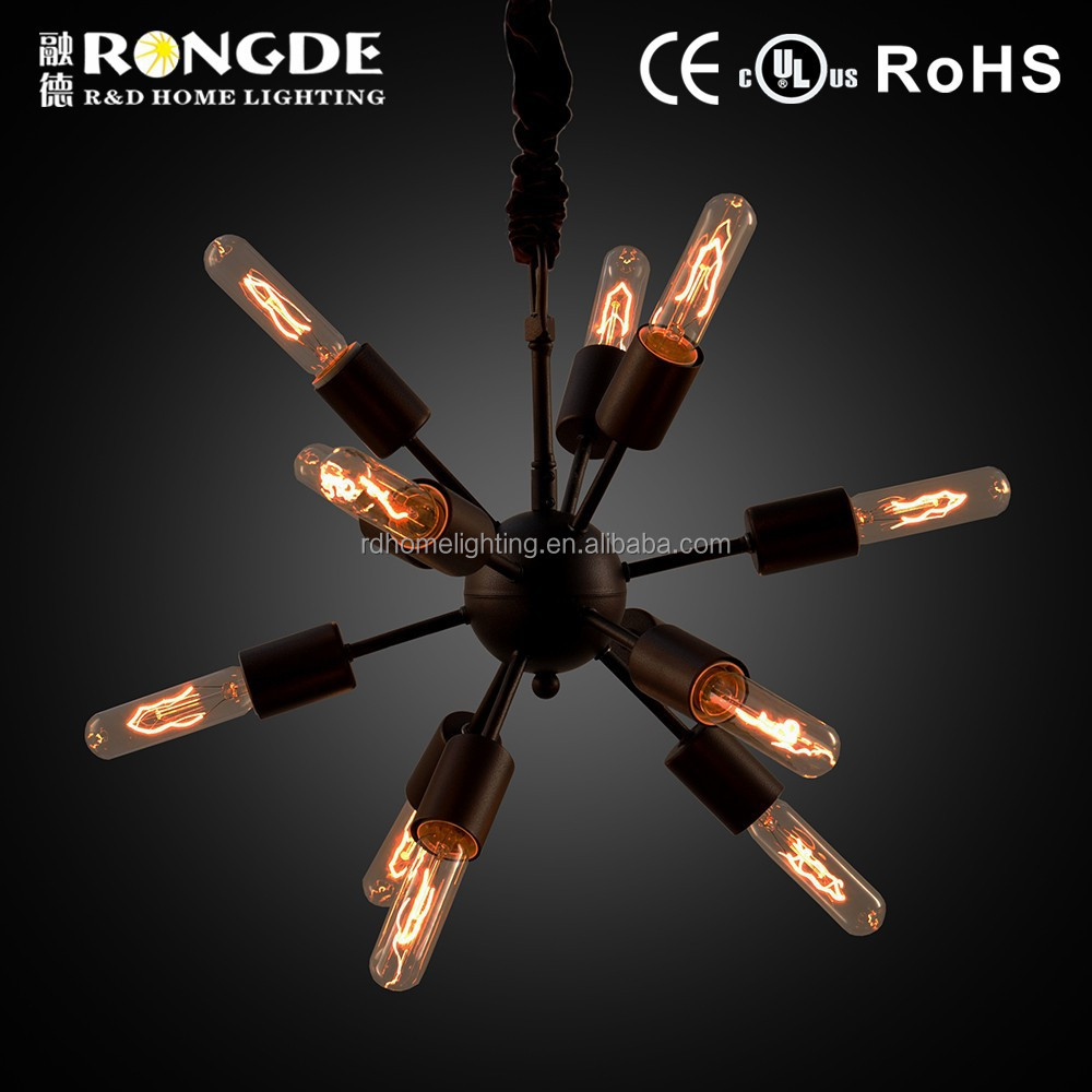 Modern Lustre wrought iron candle chandelier