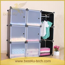 Easy Move 9Cells Storage Cube Assembled DIY Plastic Foldable Wardrobe