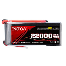 6S 22.2V 22000mah 25C high discharge UVA LiPo Battery Pack