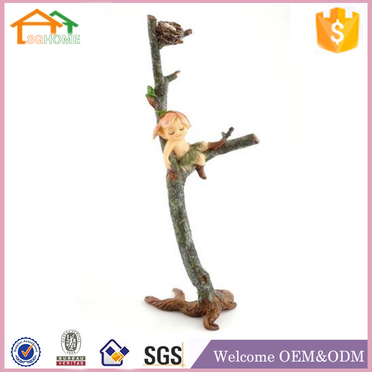 Factory Custom made home decoration polyresin small fairy figurines