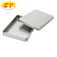 Creative design two piece easy open silver tin boxes for cosmetics