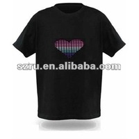 EL flashing T-shirt with personal design
