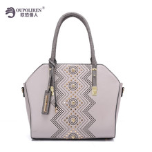 Guangzhou Factory Customized Bags Women Handbag PU Leather Bag in Dubai Women Bags 2017 New Model