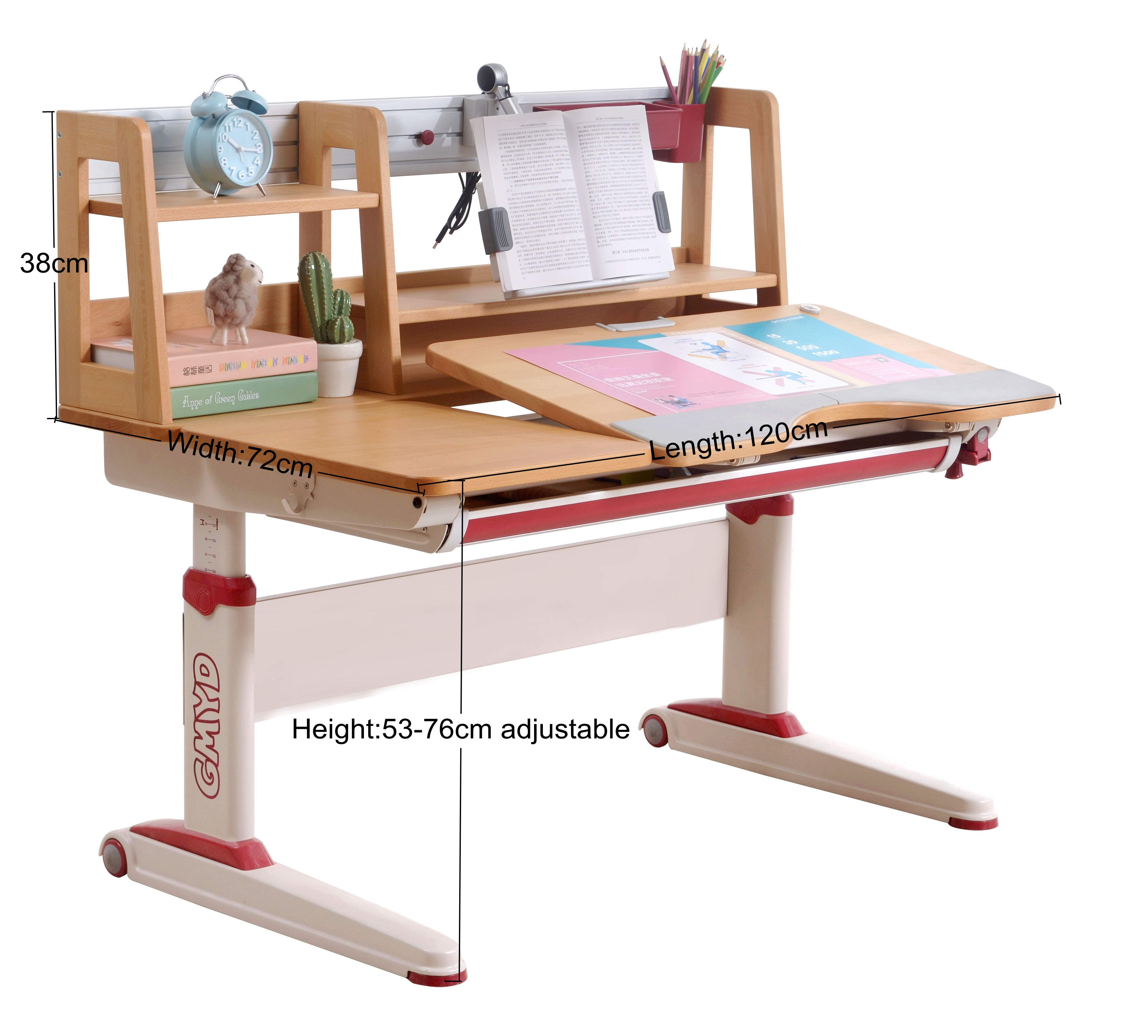 Height Adjustable Reading Writing Drawing Study Table