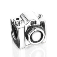 Cheap Camera Shaped 925 Silver Bead Fit Jewelry Bracelets & Necklace PDMB0056