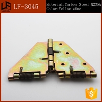 Soft close butterfly concealed hinge with detachable mounting plate