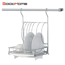 Alibaba Supplier wall hanging stainless steel kitchen dish stainless steel display rack