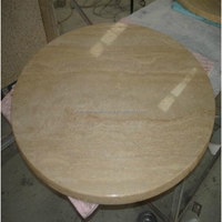 Kitchen Round Travertine Stone Table Tops