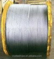 6x12+7fc galvanized steel wire rope 10mm,8x19 lifting wire rope lube coated