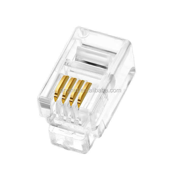 Gold plated RJ10 4p4c telephone connector