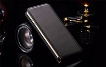 Magnetic Closure Phone Cover Flip Vertical Leather Top Open Case for HTC One M7 M8 M9