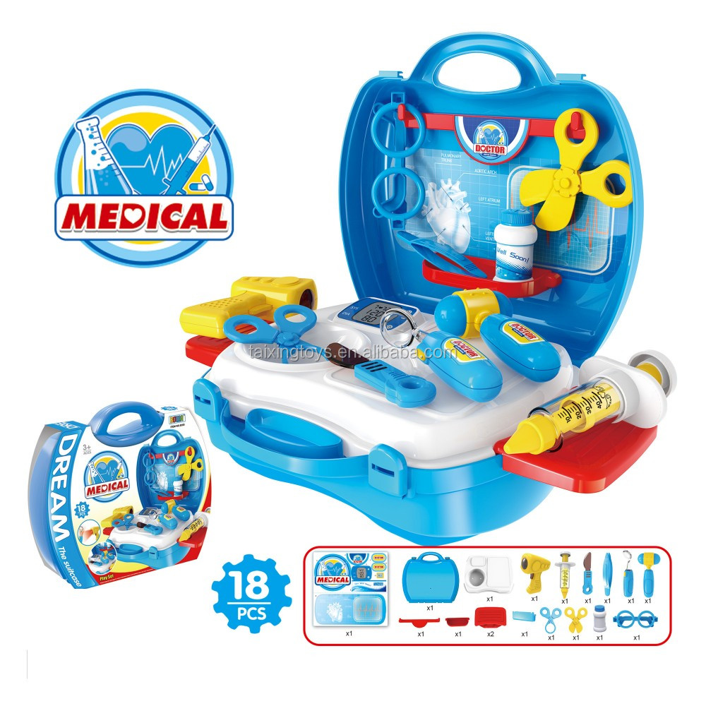 2016 Hot selling Senior medical suitcase doctor set with light for kids