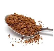 Freeze dried instant ground coffee