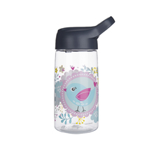 Cheap clear plastic water cup bottle with straw lid for kids sport shaker drinking water flask