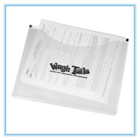 Dongguan factory cheap price document plastic clear file folder /document bag