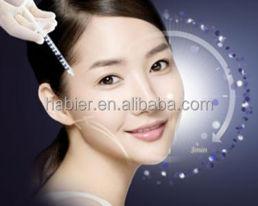 Cosmetic injection cross-linked Hyaluronic Acid dermal filler