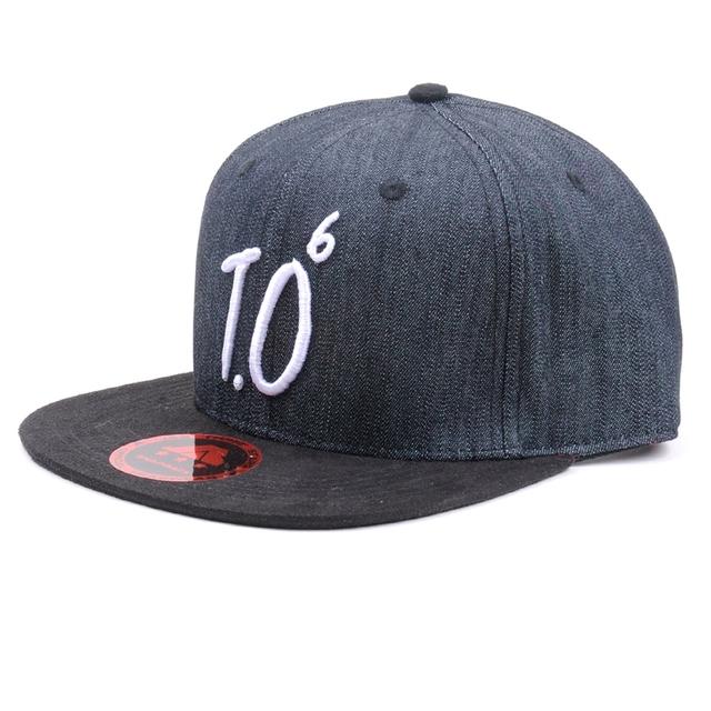 6 Panel 3D Embroidery Suede Brim Cowboy Snapback Hat