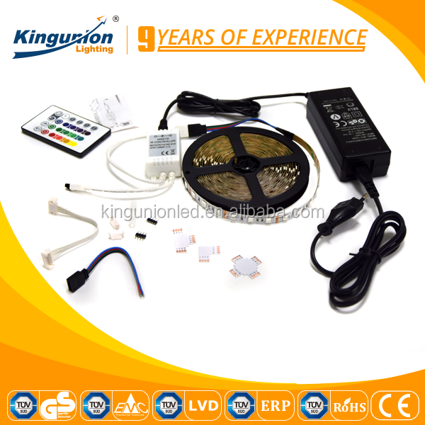 Kingunion Canton Fair company 10cm DC wire LED strip lighting RGB controller led strip light for clothes