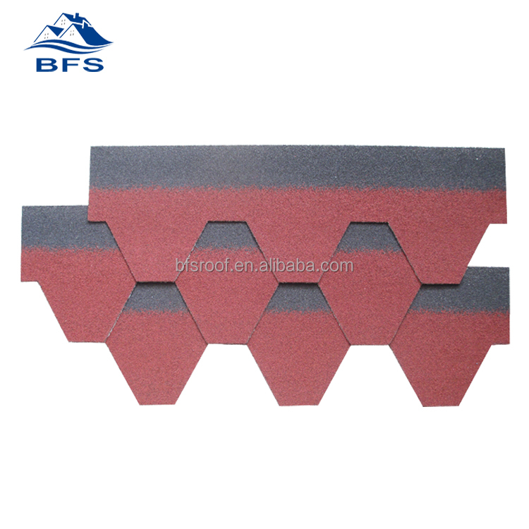 Colorful Cheap Price waterproof asphalt shingles for Leisure house