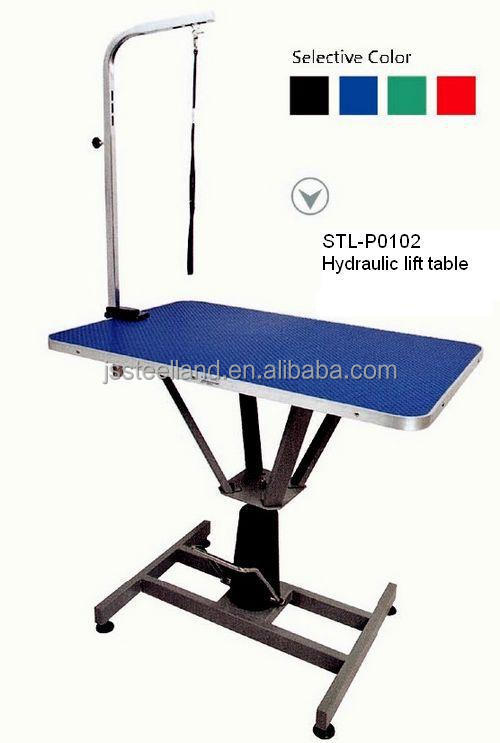 hydraulic lift table foldable pet grooming table