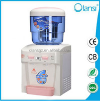 Mini water cooler, hot and cold water dispenser with children lock protection
