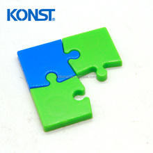 Custom 3d soft pvc fridge magnet Jigsaw puzzle magnetic shape fridge magnet 3d/refrigerator magnet