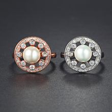 wholesale 925 sterling silver pearl jewelry women fancy ring