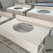 Cut to size solid surface molded sink countertop