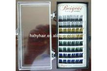 China qingdao wholesale customer eyelash packaging individual natrual 0.07 mm thickness silk eyelash extension