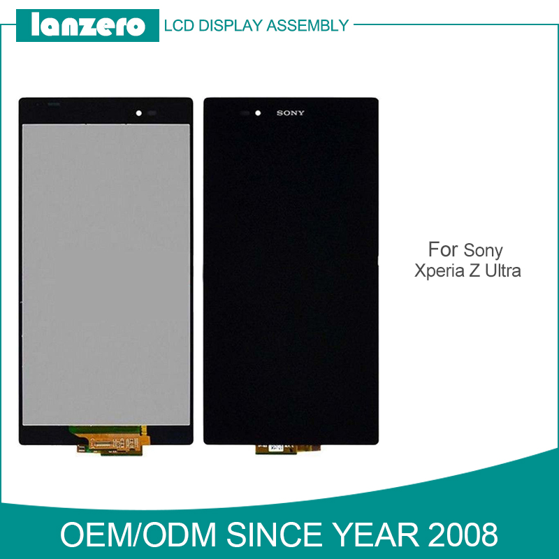 Top Qulity LCD Digitizer for Sony Z Ultra LCD Display Replacement with Touch Screen for sony xl39h