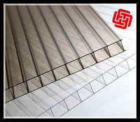 shanghai renowned pc four wall polycarbonate roof sheet / transparent pc plate
