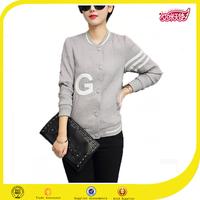 Grey custom jacket China wholesale clothing women winter jackets women blazer