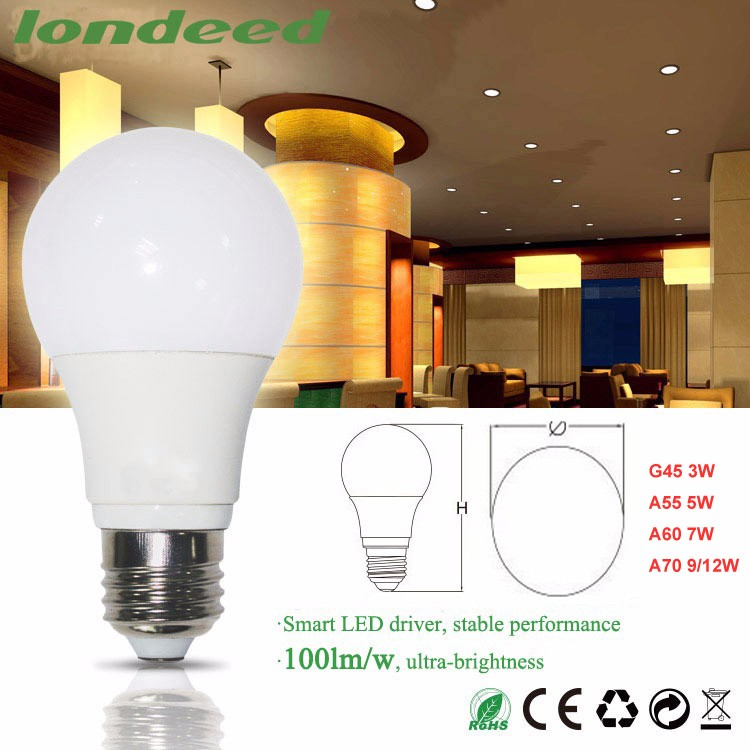 Chinese Factory Direct Sales 120 Degree LED Lamp Bulb 765lm E27 9W bulb lights led for Home Use