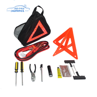11pcs set economic auto roadside emergency kit, car emergency tool kit, car emergency kit