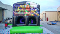 Hot Attractive Commercial Inflatable Jumping Bounce House With Slide