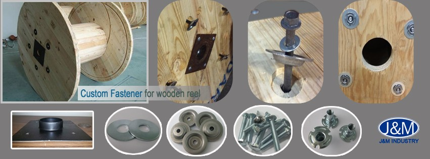 Custom stamping plain carbon steel cup washer for wooded reel
