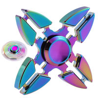 2017 New EDC Colorful Rainbow Metal Finger Hand Fidget Spinner Toy